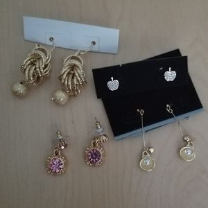 Jewelry - Designer earrings clam pearl teachers Apple